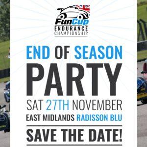 Fun Cup End Of Season Party – Saturday 27th Nov